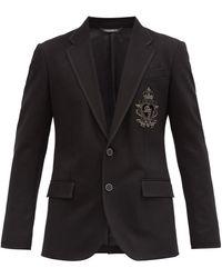 Dolce & Gabbana ツイル シングルジャケット - ブラック