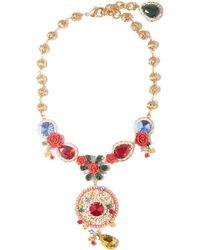 Dolce & Gabbana ローズ クリスタルネックレス - レッド