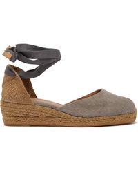 Castaner Carina 30 Canvas & Jute Espadrille Wedges - Multicolour