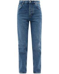 Loewe レザーポケット ストレートジーンズ - ブルー