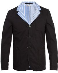 Marni - Reversible Striped Cotton Blazer - Lyst