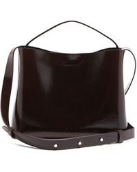 Aesther Ekme Sac Patent-leather Cross-body Bag - Brown