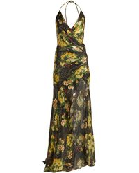 Adriana Iglesias Scarface Floral-print Silk-blend Dress - Multicolor