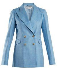 Gabriela Hearst - Angela Wool And Silk-blend Blazer - Lyst