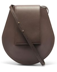 Tsatsas Cy Medium Grained-leather Shoulder Bag - Brown