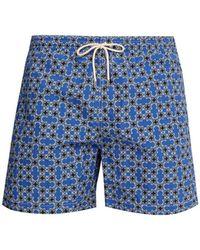 Le Sirenuse - Micro Pattern Printed Swim Shorts - Lyst