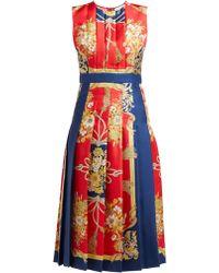 Gucci Printed Silk Midi Dress - Red