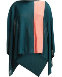Issey Miyake Bloom Fine Knit Cape - Green
