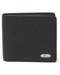 Brioni Grained-leather Bi-fold Wallet - Black