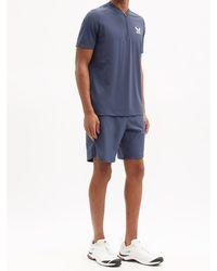 Castore Amc Logo-print Technical-jersey Shorts - Blue