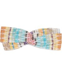Missoni - Zigzag Stripe Knitted Cotton Blend Headband - Lyst