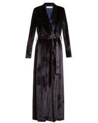Galvan London - Belted Velvet Trench Coat - Lyst