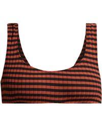 Solid & Striped Haut de bikini côtelé The Elle - Multicolore