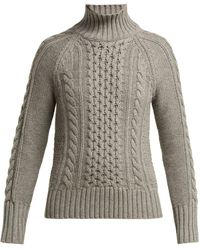 Burberry - Awakino Cable Knit Cashmere Sweater - Lyst