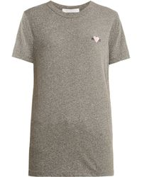 Rodarte - Rohearte Logo Embroidered T Shirt - Lyst