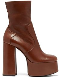 Saint Laurent - Billy Leather Ankle Boots - Lyst