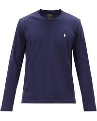 Polo Ralph Lauren コットンロングスリーブtシャツ - ブルー