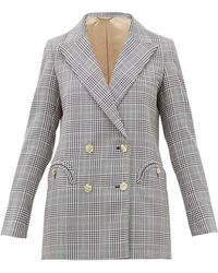 Blazé Milano - Everyday Double-breasted Checked Wool Blazer - Lyst