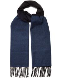 Lanvin - Striped Fringed Cashmere Scarf - Lyst