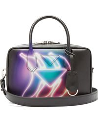 Prada - Banana-print Leather Bowling Bag - Lyst