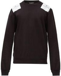 Dolce & Gabbana ロゴパッチ コットンスウェットシャツ - ブラック