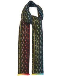 Valentino Garavani - Vltn-logo Wool-blend Scarf - Lyst