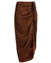 eaa8c6359 Diane von Furstenberg - Heyford Leopard Print Silk Skirt - Lyst