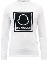 Moncler フロックロゴ コットン ロングスリーブtシャツ - ホワイト