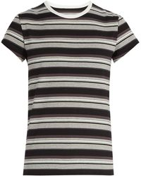 Maison Margiela - Striped Cotton Jersey T Shirt - Lyst