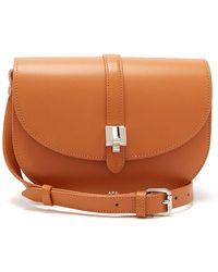 A.P.C. - Isilde Leather Saddle Bag - Lyst