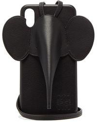 Loewe エレファント レザー Iphone Xs Max ケース - ブラック
