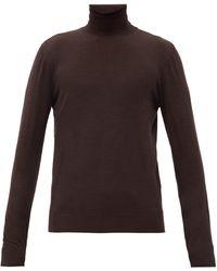 Dolce & Gabbana タートルネック ウールセーター - ブラウン