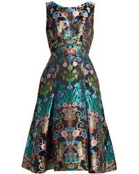 Mary Katrantzou - Talon Floral Jacquard Midi Dress - Lyst
