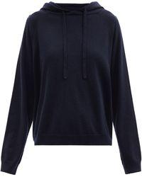 Allude カシミアフーデッドセーター - ブルー