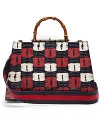 Gucci - Nymphaea Snakeskin Top Handle Bag - Lyst
