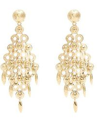 Prada - Circle-link Earrings - Lyst