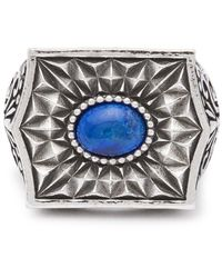 Emanuele Bicocchi Sovereign Stone Sterling-silver Ring - Metallic