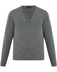 Prada - V-neck Wool Sweater - Lyst