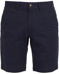 Polo Ralph Lauren Straight-leg Cotton-blend Chino Shorts - Blue