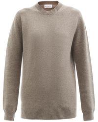 Raey Crew-neck Recycled-cashmere Boyfriend Sweater - Brown