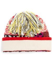 Burberry - Patchwork Wool-blend Beanie Hat - Lyst