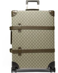 Gucci X Globe Trotter Gg-supreme & Leather Suitcase - Multicolour