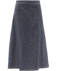 Sara Lanzi パレオ デニムラップスカート - ブルー