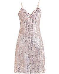 ca0760070624 Ashish - Sequin Embellished Sheer Slip Dress - Lyst