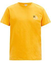 Loewe アナグラム コットンtシャツ - イエロー