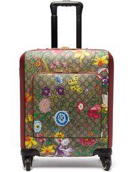 Gucci Valise cabine en cuir et toile enduite GG Flora - Multicolore