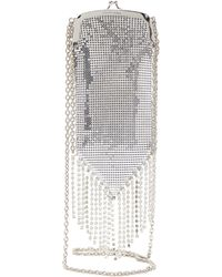 Paco Rabanne Fringed Chainmail Mesh And Crystal Cross Body Bag - Multicolour