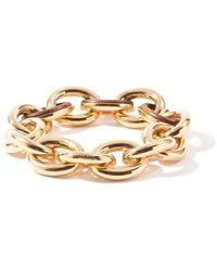 Jil Sander Eclipse Wood And Gold-tone Link Bracelet - Metallic