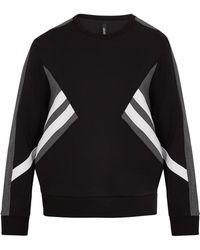 Neil Barrett - Tri-colour Zip-side Jersey Sweatshirt - Lyst