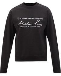 Martine Rose ロゴ コットンスウェットシャツ - マルチカラー